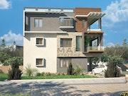3D architectural exterior rendering. Helen Garcia