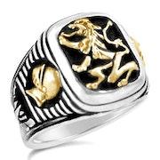 Bavarian Lion Knights silver ring. Bruno Barsoum