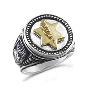 Israel Medal of Valor Mens Coin ring. Bruno Barsoum
