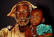 Le grand Père et son petit fils - mali.