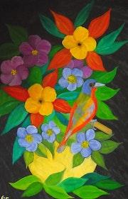 Bouquet à l'oiseau. Gerard Flohic