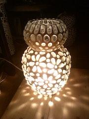 Schneeflocke (Bodenlampe, Mosaiklampe).