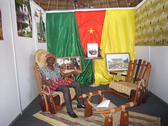 Djangui armchair; utile pour la santé.. Tassa Nofewe Hilaire Tassfabriq Cameroon Design