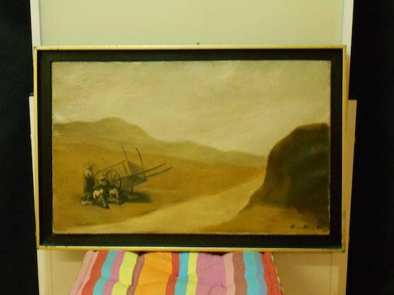 Peinture, huile sur toile, leon zack. Leon Zack (1892-1980= Daniel Jasserme