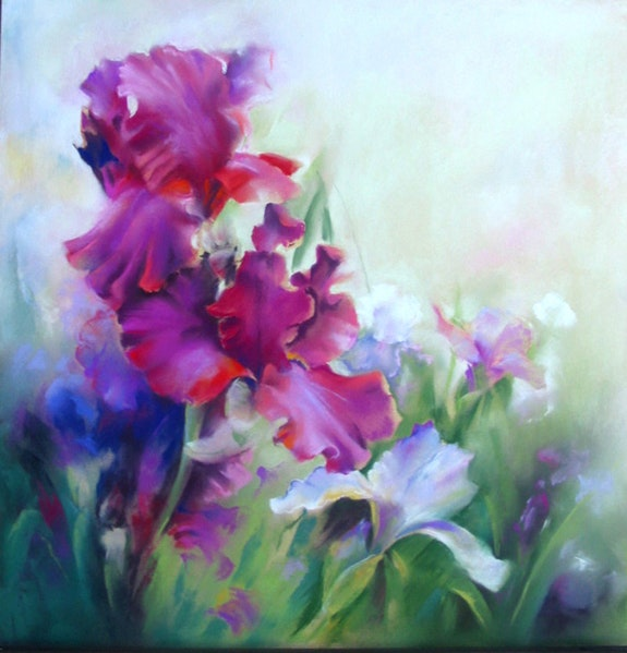 Iris 40x40. Eliane Marque Eliane Marque