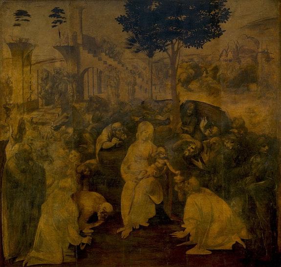 The Adoration of the Magi, (1481)—Uffizi.  Leonardo Da Vinci