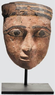 Hölzerne Mumienmaske, um 747-332 V. Chr. , Ägypten, Original!.