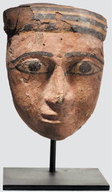 Hölzerne Mumienmaske, um 747-332 V. Chr. , Ägypten, Original!. Thomas Kern
