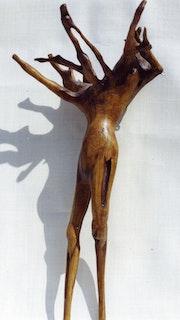Flamme and Co. Sculpture en bois flotté. Pièce unique.