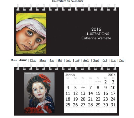 Calendrier 2016. Catherine Wernette Catherine Wernette