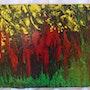 Tableau fluide acrylique «Musique de la vie». Zaz