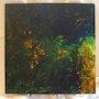Tableau fluide acrylique «Confession avec les étoiles». Zaz