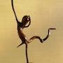 Sabbat. Sculpture en bois flotté. Ldiable en rit encore sûrement !. Le Chapuiseur