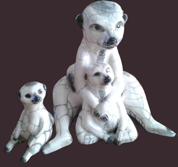 Famille suricate. Guislaine Lerosier Guislaine Lerosier (Ledent)
