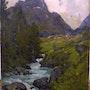 «Torrent près de Pralognan la Vanoise». Nice Antiques
