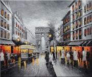 Paris - Peinture sur toile. Fc Deco