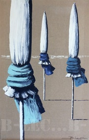 Les parasols de Deauville. Christian Bellec