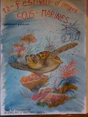 Affiche du 12ème Festival des images sous-marines.