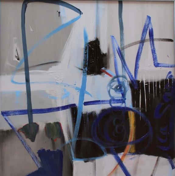 Colère froide - Huile - 1m X 1m.  Atelier Eponyme