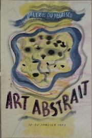 «Art abstrait, Galerie du Negresco, Nice 1951». Nice Antiques