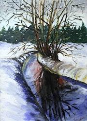 Winter im Spreewald.