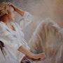 Pensive 70x90. Eliane Marque