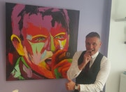 «Olivier» Tableau Peinture PopArt Street Art personnalisée. Giuseppe