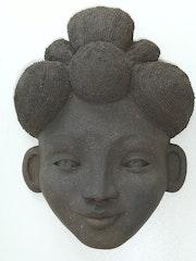 Masque Femme Africaine. Atelier Terre Voyageuse