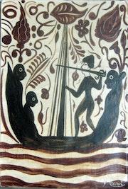 Slave ship. Reproduction of a «socarrat» del 15th century.