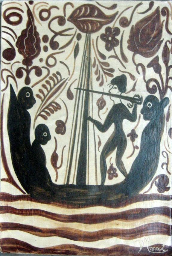 Slave ship. Reproduction of a «socarrat» del 15th century. Lola Manaut Roser Nou