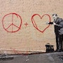 Peace and Love. Banksy