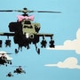 Helicopters. Banksy