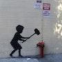 Hammer kid. Banksy