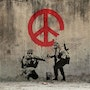 Peace and Love at War. Banksy