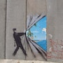 Exit to paradise. Banksy
