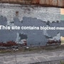 This site contains blocked messages. Banksy