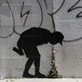 Puking. Banksy