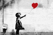 Girl with a balloon by Banksy.