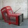 Dead red phone box. Banksy