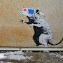 3D rat. Banksy