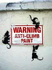 Warning: Anti-Climb Paint.