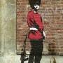 British soldier pissing. Banksy