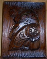 Canadian native cedar wood carving by the late famous ray wesley. Aaron Wohl