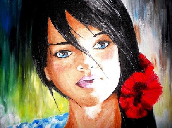 Une fille en fleur…. Lolo… Lolo