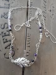 Leaf - Sterling Silver Handmade Necklace.. Jane Broster