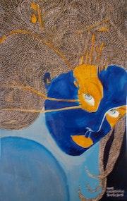 The blue and orange (orange-colored) moon (petit délir du vendredi). Anne. B