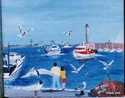 Sete. Son port. Entrée des pêcheurs.