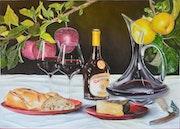 Pain et fromage et vin. Jean Pierre Fimbel