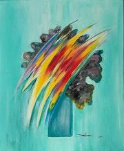 Bouquet futuriste.. Arlette Sanz Dutheil