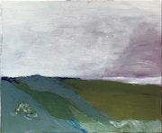 Ciel mixte sur toile 45x38cm.